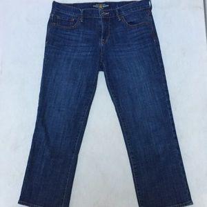 Lucky Brand Sweet 'n Crop Jeans Denim Sz 6/28 Blue